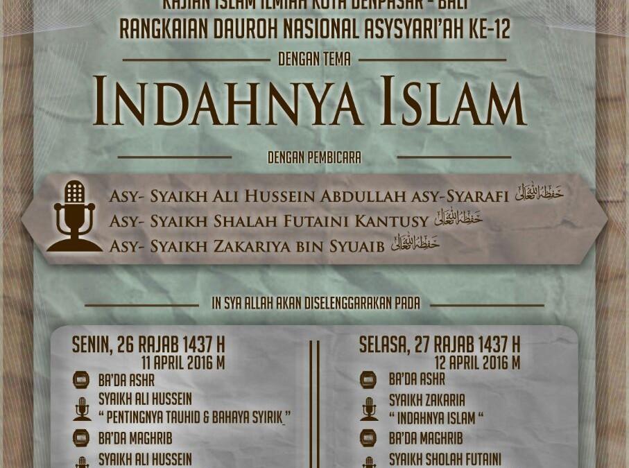 Safari Dakwah Asy-Syariah Ke-12 di Kota Denpasar Bali