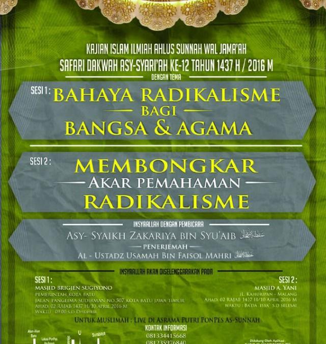Safari Dakwah Asy-Syariah ke-12 di Kota Malang Jawa Timur