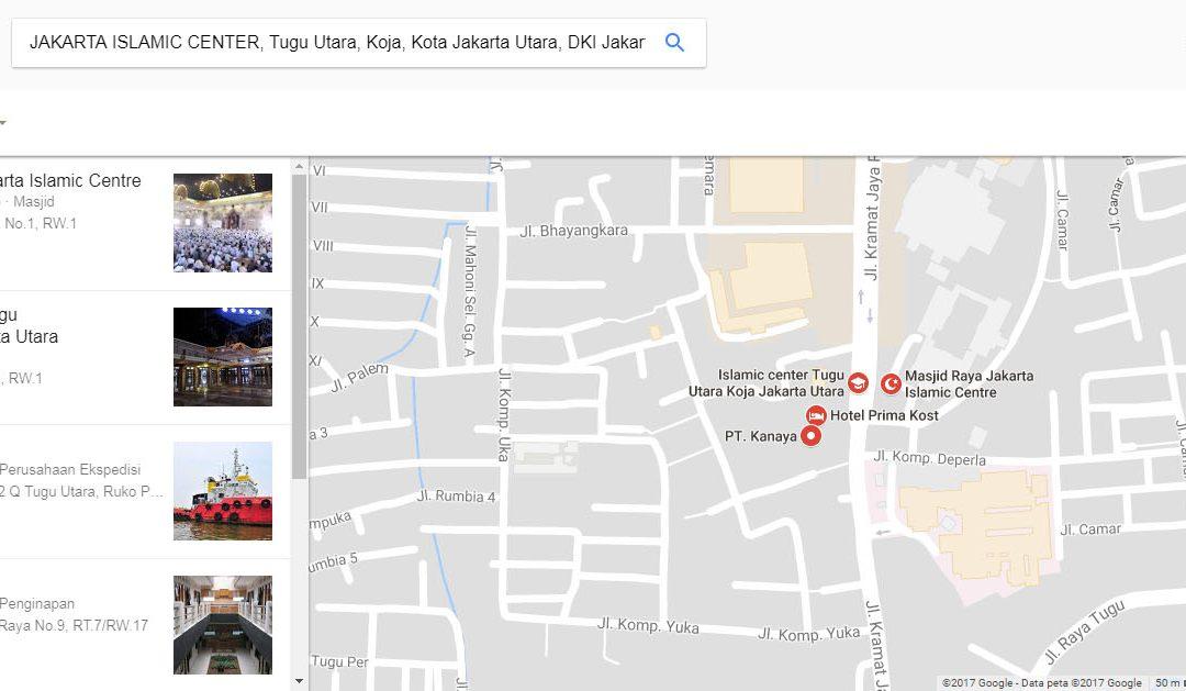 RUTE MENUJU LOKASI KAJIAN ISLAM ILMIAH AHLUS SUNNAH WAL JAMAAH ASY-SYARI'AH KE-14 TAHUN 1438 H / 2017 M (JAKARTA ISLAMIC CENTER)